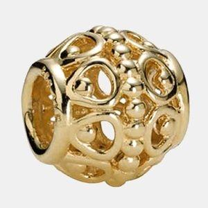 Pandora 14k Gold Gilded Cage Charm (retired charm)